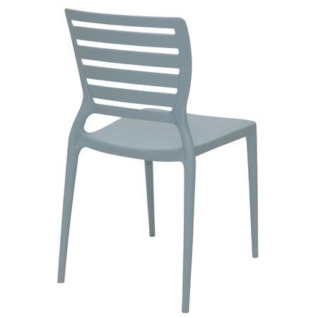 Cadeira Tramontina Sofia Azul Encosto Vazado Horizontal em Polipropileno e Fibra de Vidro