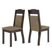 Cadeiras Kit 2 Cadeiras Selena 14111 Ameixa/neve - Viero Móveis
