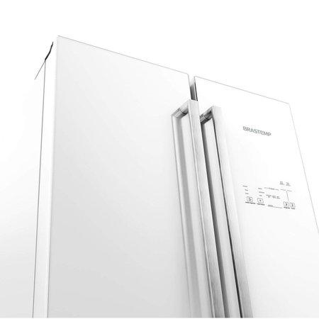 Geladeira Brastemp Frost Free Side Inverse 540 litros Vitreous