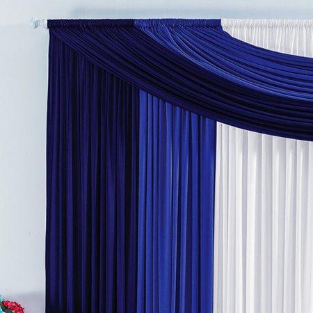 Cortina Marroquina 3,00m x 2,80m para Varão Simples Azul/Marinho/Branco