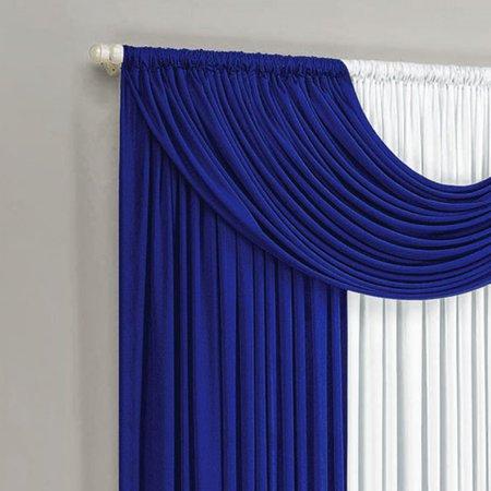 Cortina Riviera 3,00m x 2,80m para Varão Simples Azul/Branco