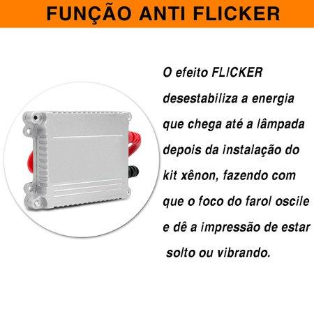Kit xênon Completo H1 H11 H16 H27 H3 H4-2 H7 H8 H9 HB3 HB4 12000K 35W com Reator Função Anti Flicker