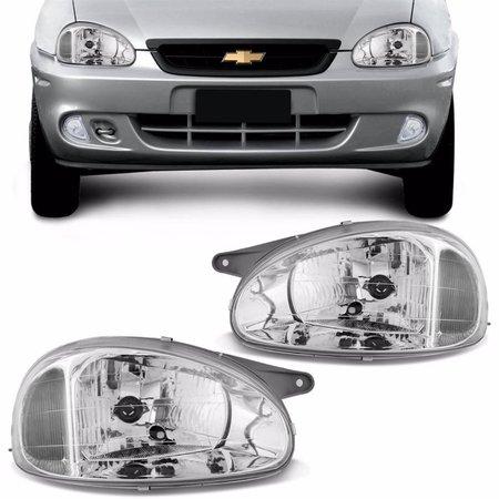 Farol Corsa Sedan Hatch classic 94 95 96 97 98 99 00 01 02 03 04 05 06 07 08 09 10 Cromada