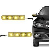 Pisca Seta retrovisor Com 4 LEDs Slim Seta Universal Luz Amarela Autopoli