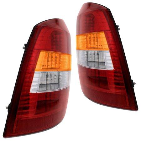 Lanterna Traseira Astra Hatch 1999 2000 2001 e 2002 Tricolor Cristal