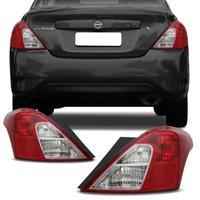 Lanterna Traseira Nissan Versa 2011 até 2019 - Bicolor Cristal Rubi