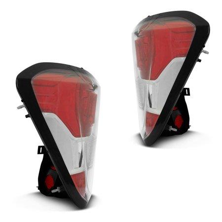 Lanterna Traseira para Spin 2013 até  2018 - Bicolor Borda Preta