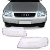 Lente Farol Audi A3 2001 2002 2003 2004 2005 e 2006 Cristal
