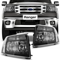 Farol Ranger 2010 até  2012 - Máscara Negra / Foco Duplo Pisca Integrado