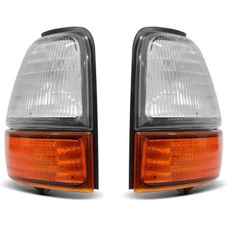 Lanterna Dianteira Pisca Ranger 98 99 00 01 02 03 04 bicolor Cristal e Âmbar