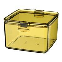 Pote Pequeno Hermético 0,75 Litros Retangular - Amarelo