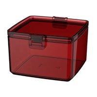 Pote Pequeno Hermético 0,75 Litros Retangular - Vermelho