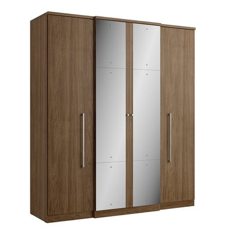 Guarda-Roupa Casal Splendore - 4 Portas 2 Gavetas Plus Glass c/ Espelho THB