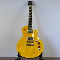 Guitarra Les Paul Braço Colado ESP LTD LEC256FM Amarela Lemon Drop com Captação Humbucker