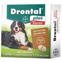 Vermífugo Drontal Plus Carne Cães Até 35kg Com 2 Comprimidos
