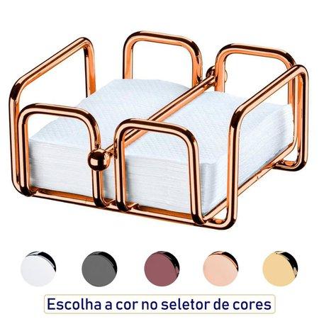 Porta Guardanapos de Papel Pequeno Com Peso Mesa Café Luxuoso - Rosé Gold