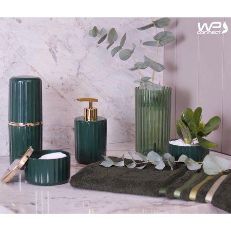 Porta Sabonete Líquido Groove 400ml Banheiro Luxo - Verde Escuro