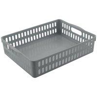 Cesto Organizador Multiuso Grande Porta Objetos / Cinza