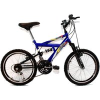 Bicicleta Aro 20 MTB 18V Full Suspension Max 220 - Azul