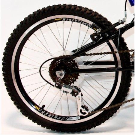 Bicicleta Aro 20 MTB 18V Full Suspension Max 220 - Azul