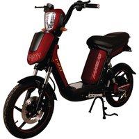 Bicicleta Scooter Elétrico Modelo SMARTY na Cor Vermelho Cereja