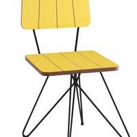 Cadeira Costela Base Butterfly - Daf - . Amarelo