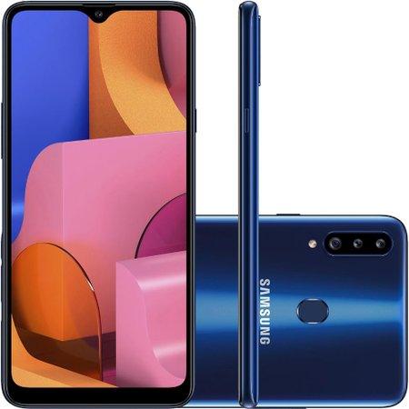 Celular Samsung Galaxy A20s Azul 32GB Câmera Tripla 13MP + 5MP + 8MP