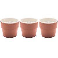 Conjunto 3 Vasos Auto Irrigáveis Horta Vasos Para Plantas Tempero Flores Terracota