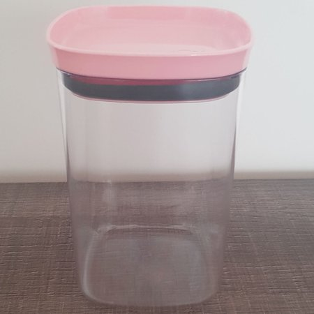 Kit De Potes Herméticos Conjunto De Potes 1L Para Alimentos Com Tampa Rosa Quartzo