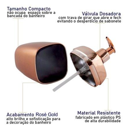 Porta Sabonete Líquido 300ml Lavabo Luxo