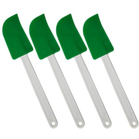 Kit 4 Espátulas Modela Bolo Unta Forma - Verde