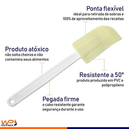 Kit Espátula Modela Bolo Unta Forma 10 Peças - Bege