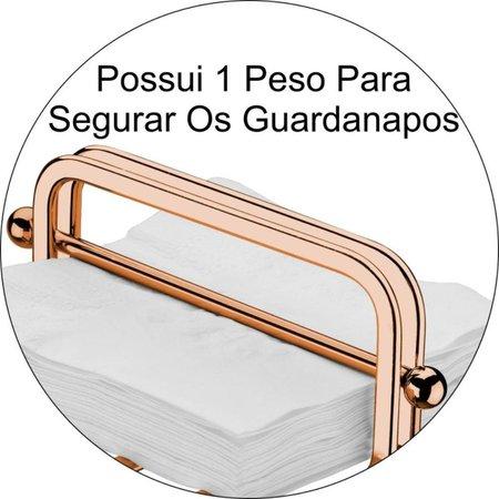 Porta Guardanapos de Mesa Pequeno Luxuoso Com Peso Café Restaurante - Rosé Gold