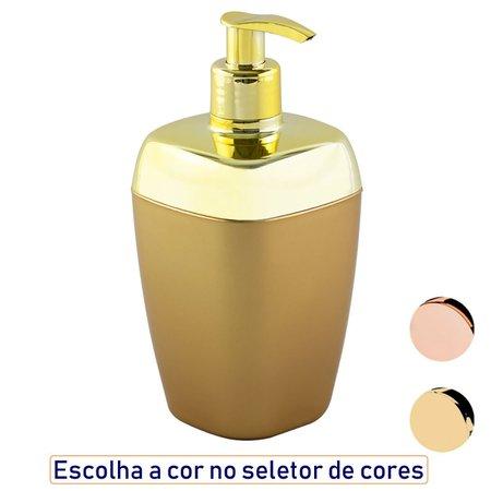 Porta Sabonete Líquido 300ml Lavabo Luxo - Dourado