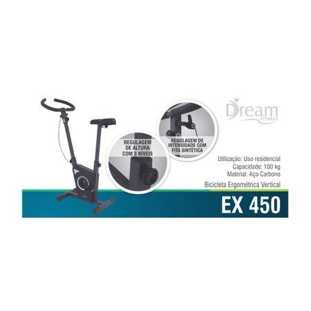 Bicicleta Ergométrica Vertical Dream Chumbo EX450