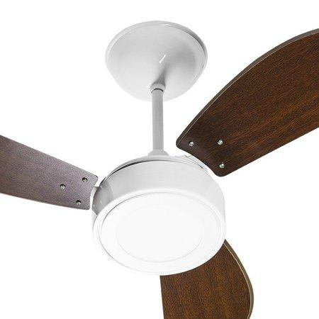 Ventilador de Teto Venti-Delta New Light Led com 3 Pás Tabaco / Branco