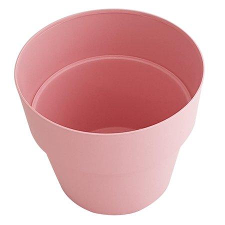 Vaso Para Flores Vaso De Flor Redondo Colorido 16,5x15cm Rosa