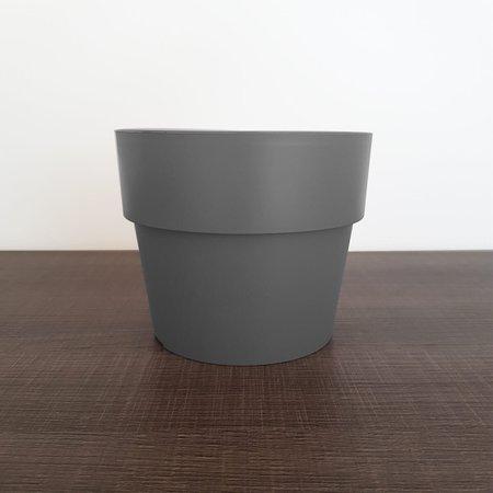 Vaso Para Plantas Pequenas Vaso De Flores Sala 14,5x12cm Chumbo