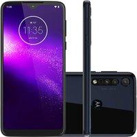Smartphone Motorola One Macro 64GB Dual Chip Android Tela 6.2` 4G 13MP + 2MP + 2MP Azul Espacial