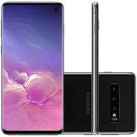 Smartphone Samsung Galaxy S10 128GB Tela 6.1` Câmera Tripla Traseira 12MP+12MP+16MP - Preto
