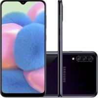 Celular Samsung Galaxy A30s Preto 64GB Câmera Tripla 25MP + 5MP + 8MP