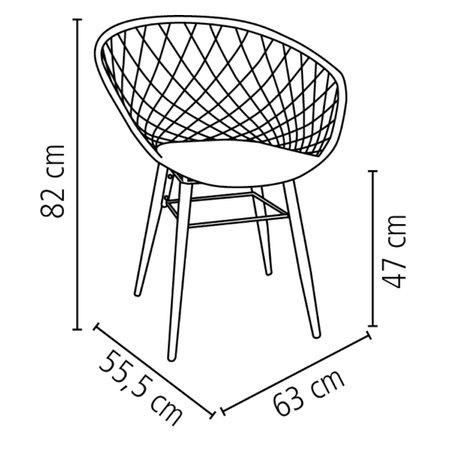 Cadeira Tramontina Sidera Preta em Poliamida com Pernas de Madeira
