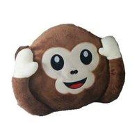 Almofada Macaco Plush Grande Não Escuto Marrom