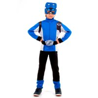 Fantasia Longa Power Ranger Azul - Sulamericana