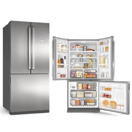 Refrigerador Brastemp Side Inverse 3 Portas 540L FF Inox