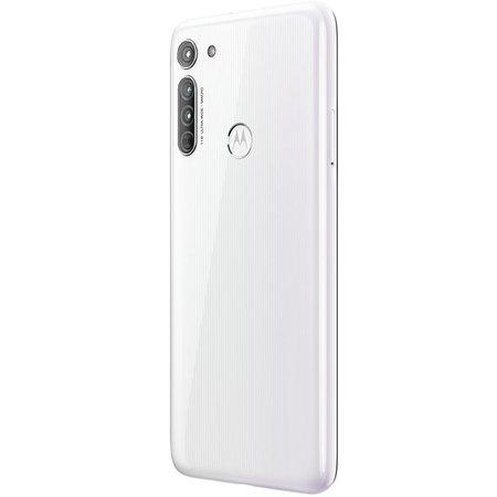 Celular Motorola Moto G8 Branco Prisma 4GB RAM 64GB Tela 6.4