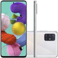 Celular Samsung Galaxy A51 Branco 4GB 128GB Câmera Quadrupla 48MP + 12MP + 5MP + 5MP