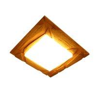 Plafon Madeira Rama Demolição para Salas e Quartos FG Iluminação para 4 Lâmpadas E27