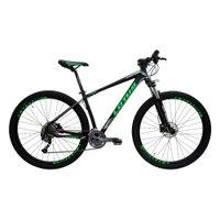 Bicicleta Aro 29 Freio Hidráulico Armor Shimano Alivio Quadro 19 21v Preto Verde Cinza - Lotus