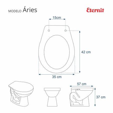 Assento Sanitário Aries Bege Claro Para Louça Eternit